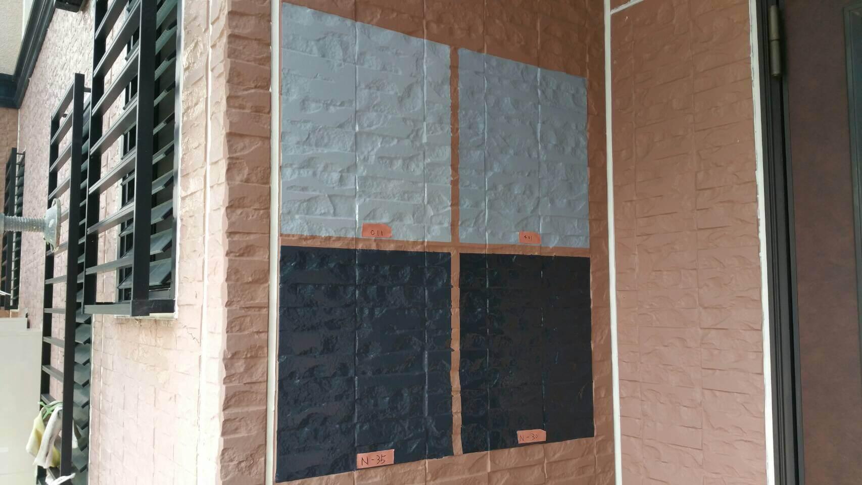 外壁塗装においての色選びに迷ったら?外壁塗装専門店の配慮「試し塗り」