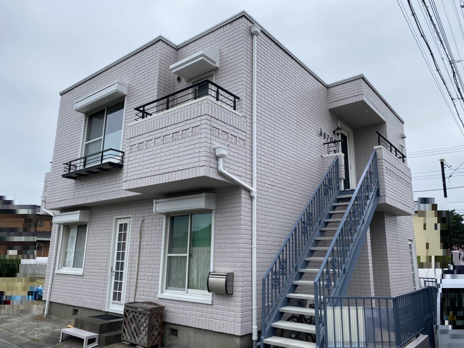 八潮市 ハウスメーカー住宅外壁塗装工事 足場解体後