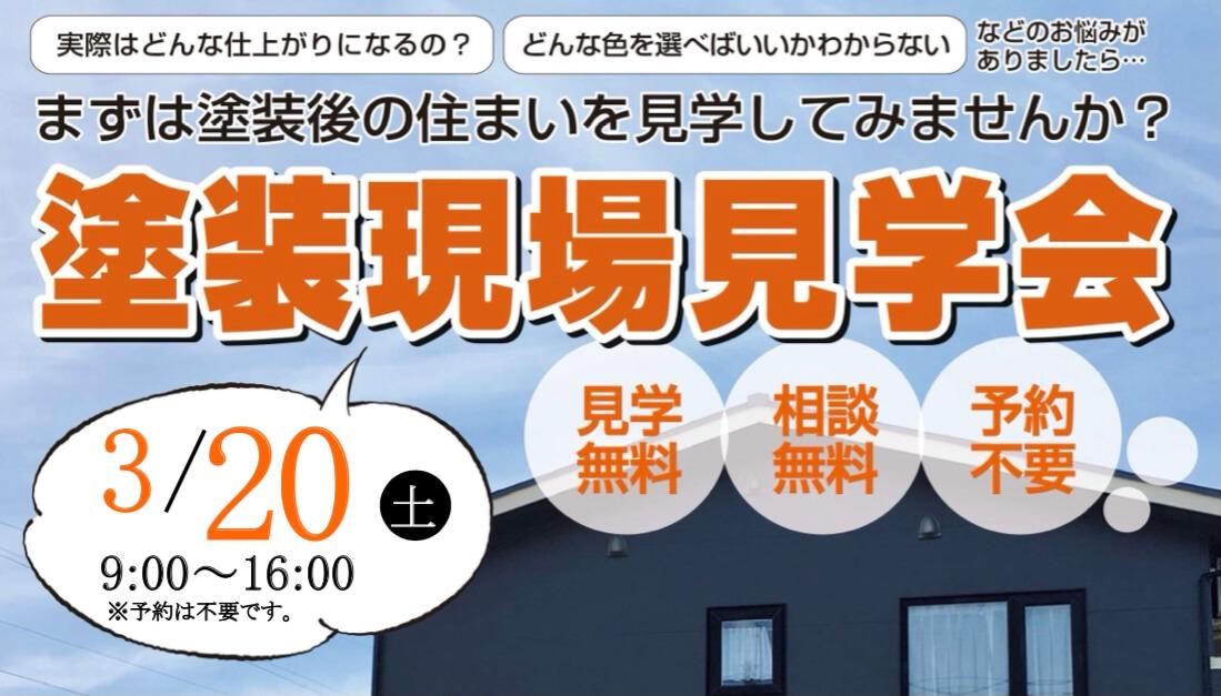 明日3/20(土) 完成塗装見学会開催!!